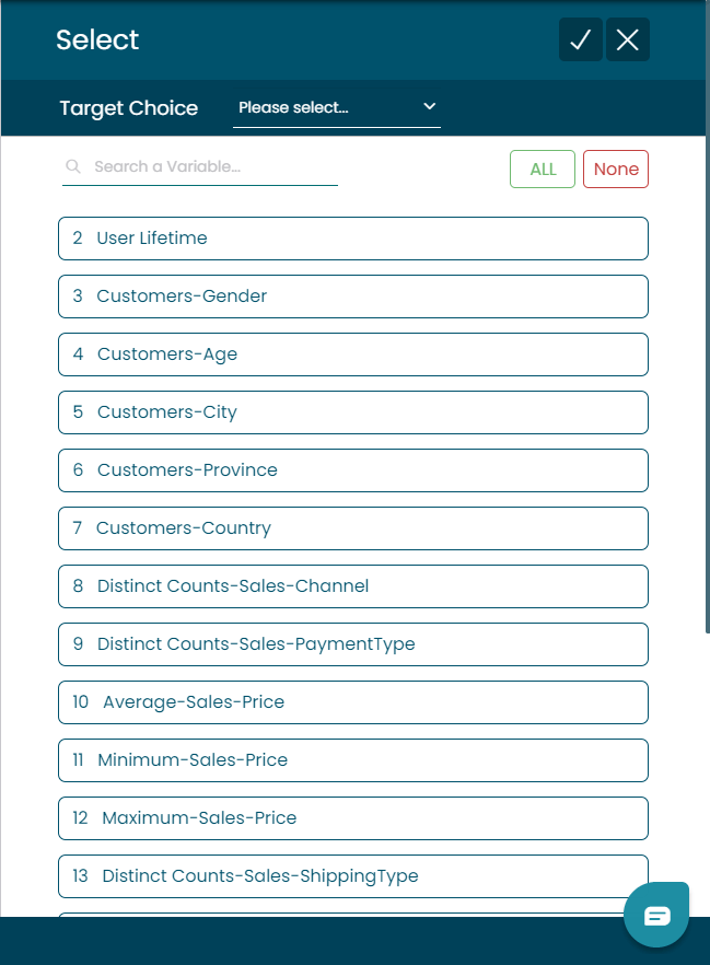 Select Features